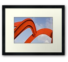 Red structure Framed Print