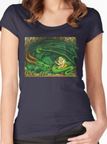 The Princess and the Dragon Women's Fitted Scoop T-Shirt