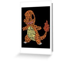 Charmander Made Out of His Moves! Greeting Card