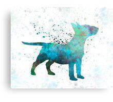Miniature Bull Terrier in watercolor Metal Print