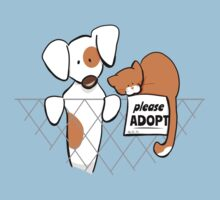 Please Adopt Shelter Pets | Patch & Rusty™ One Piece - Short Sleeve