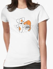 Please Adopt Shelter Pets | Patch & Rusty™ Womens Fitted T-Shirt