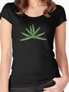 Sticherus - Forked Fern Women's Fitted Scoop T-Shirt