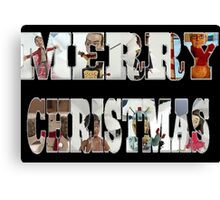 Community Clay Christmas Card Canvas Print