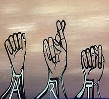 A-R-T in Sign Language by synchronicart