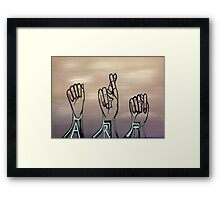 A-R-T in Sign Language Framed Print