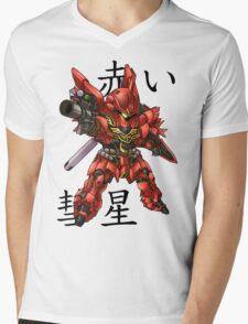 The Red Comet Mens V-Neck T-Shirt