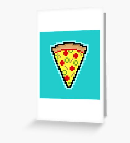 Pixel Pizza Greeting Card