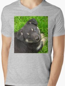 Cute little dog looking up T-Shirt