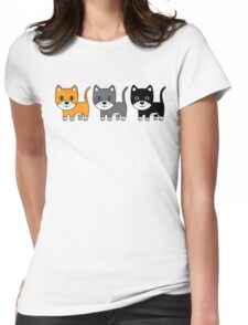Ginger, Grey & Black Womens Fitted T-Shirt