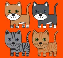 Grey & Ginger Cats Kids Clothes
