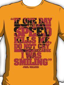 Paul Walker T-shirt 2 T-Shirt