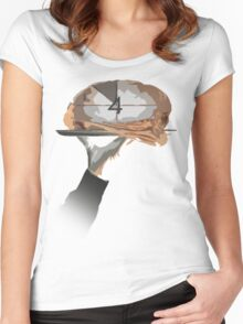 A Slice of Brain Women's Fitted Scoop T-Shirt