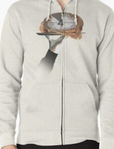 A Slice of Brain Zipped Hoodie