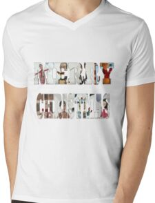 Community Clay Christmas Shirt Mens V-Neck T-Shirt
