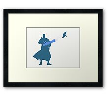 Blu Medic Silhouette  Framed Print