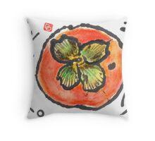 Konnichi Wa (Persimmon) Throw Pillow