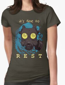 It's fine to rest. Womens Fitted T-Shirt