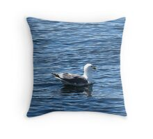 Pretty Duck in Blissful Waters Throw Pillow