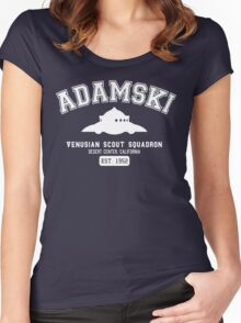 Adamski UFO Flying Saucer Squadron Women's Fitted Scoop T-Shirt
