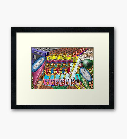 Playing with your mind Framed Print