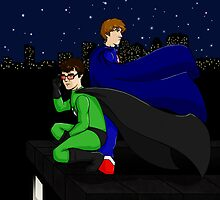 X-Ray and Vav - City Guardians by pixelblur