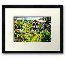 Half Timber House Lovely English Garden Verdant Lawn Framed Print