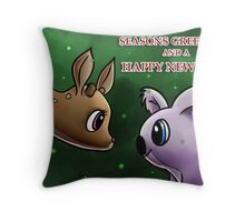 Seasons Greetings and a Happy New Year Throw Pillow