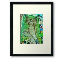 Graffiti Angel Framed Print