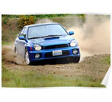 Blue Subaru Rallycross Poster