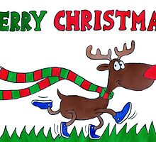 Cartoon Rudolph Christmas Card by ChrisNeal