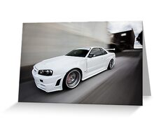 Nissan Skyline R34 GT-R Z Tune Greeting Card