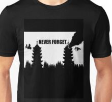 Never Forget-Burned Tower Unisex T-Shirt