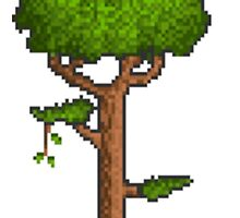 Terraria Tree iPhone Case by iTzLegolas