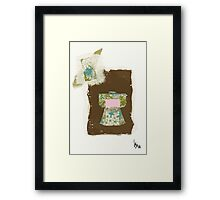 blue and pink kimono Framed Print