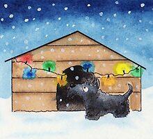Scottie Dog 'Xmas Kennel' by archyscottie
