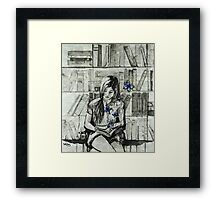 Lost In Words Framed Print