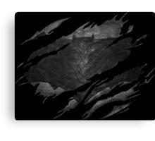 Batman BvS Logo Ripped Canvas Print
