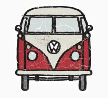 Red White Campervan Worn Well Kids Clothes