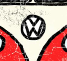 Red White Campervan Worn Well Sticker