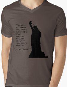 Lady Liberty quote  Mens V-Neck T-Shirt