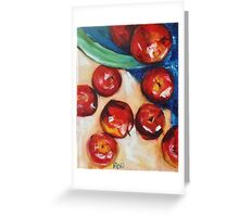 Spilt Apples Greeting Card