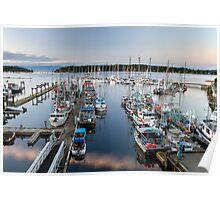 Fishing Boats at Nanaimo Harbour Poster