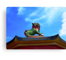 Lion statue in the temple of Confucius Canvas Print