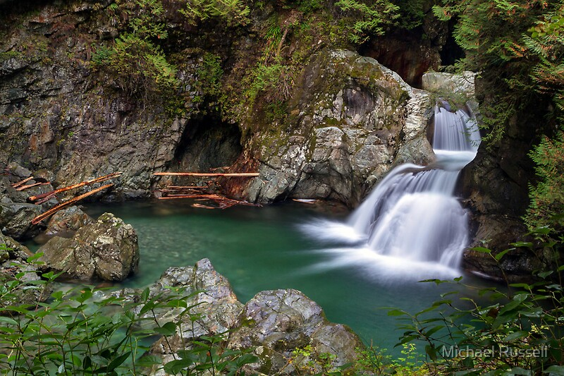 Quot Twin Falls In Lynn Canyon Park Quot By Michael Russell