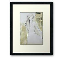 Mix Media Sketch Framed Print