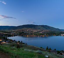 Vernon and Kalamalka Lake at Dusk by Michael Russell