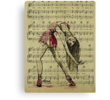 Vintage Dancer Canvas Print
