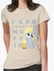 I can muffin - Derpy Womens Fitted T-Shirt