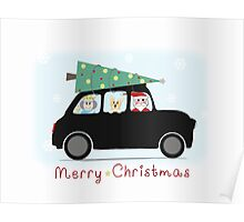 British Christmas Greetings Poster